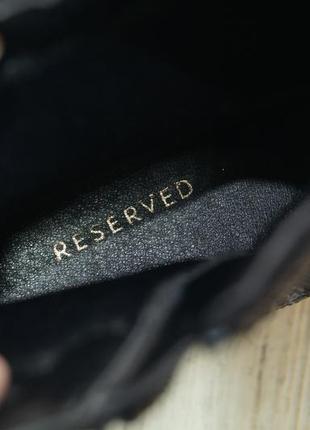 Reseved. стильные блестящие ботильоны ,полусапожки на устойчивом каблучке6
