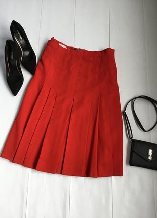 Шикарная винтажная юбка со встречными складами в составе шерсть