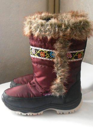 Красивые теплые зимние сапоги для девочки, р.30 код d3003