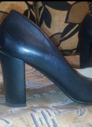 Кожаные туфли женские2 фото