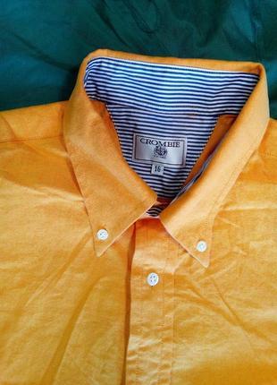Фирменная рубашка ,натурального качества crombie