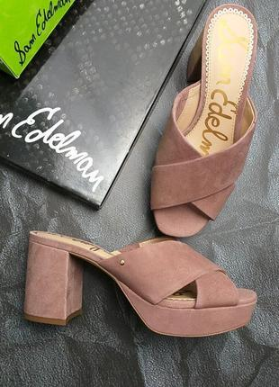 Sam edelman оригинал сабо босоножки на платформе и широком каблуке бренд из сша