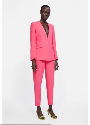 Пиджак блейзер жакет zara оригинал розовый