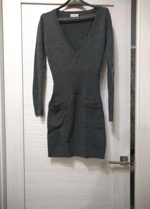 Вязаное(свитерное) платье