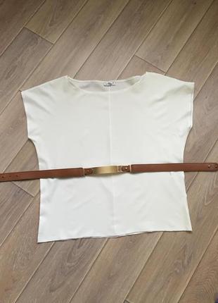 Широкая блуза с поясом