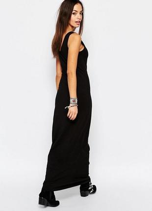 Черное базовое платье-макси only, платье майка, состояние нового