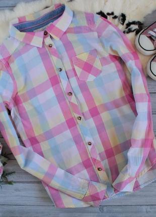 Рубашка в яркую клетку
