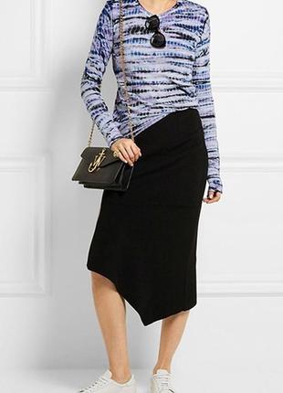 Итальянская юбка с асимметричным низом м-л