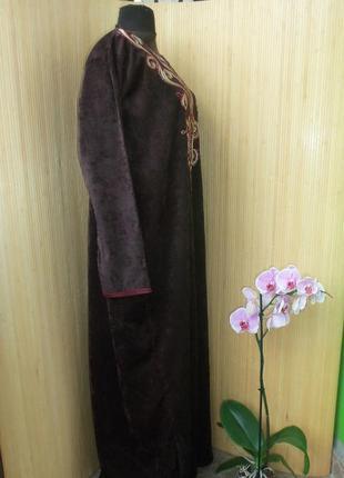 Шоколадно коричневое платье рубаха / джаллаба  / галабея / абая3 фото