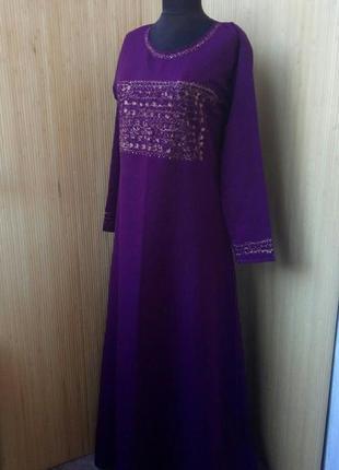 Длинное платье рубаха / абая / джаллаба xs/s