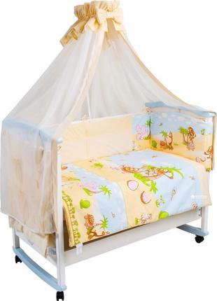 Комплект постельного белья тигрес сафари бежевый 8 предметов