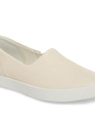 Ecco gillian - кожаные туфли - слипоны - 39