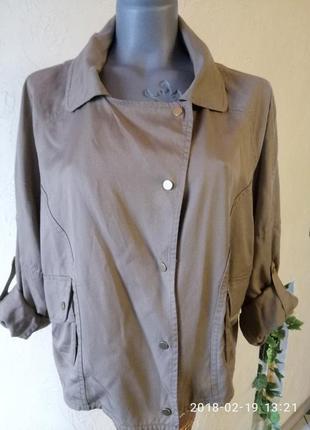 Легкая стильная куртка-косуха  из натуральной ткани