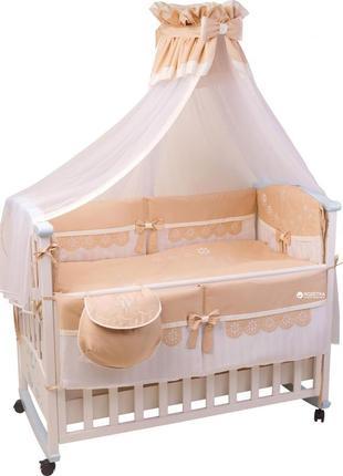 Комплект постельного белья, одеяло, подушка, защита на кроватку и балдахин