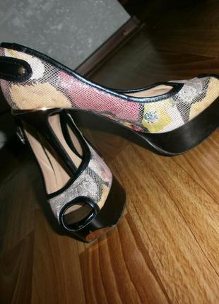 Кожаные летние туфельки