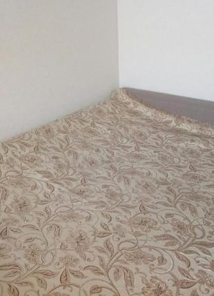 Покрывало 200*220 лилия гобеленовое на диван, кровать, гобелен, золотое, кофейное турция
