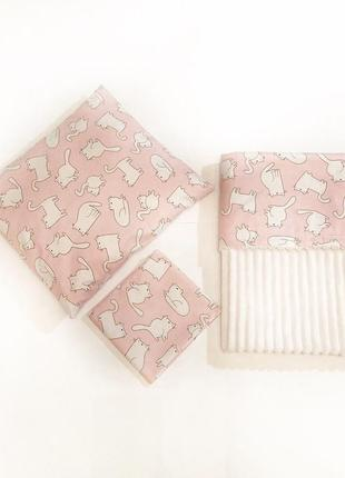 Новый комплект в кроватку, коляску: плед, подушка, пеленка
