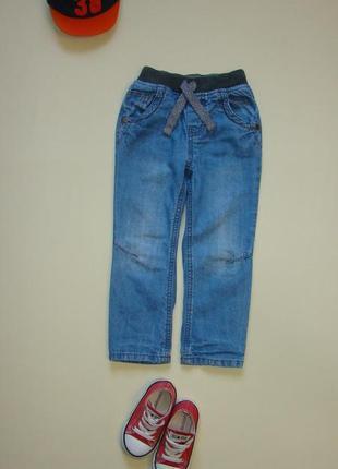 Стильные джинсы штаны nutmeg 3-4 года