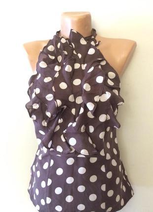 Романтическая блузка , шелк размер 42-44