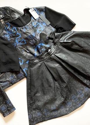 a518b663578a Костюм 3-ка asos юбка, футболка, косуха выполнены полностью с натуральной  кожи