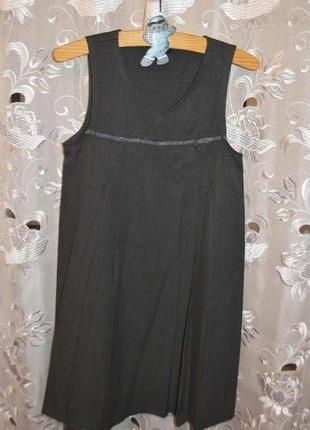 Школьный сарафан-платье george р.7-8 лет 122-128 см.