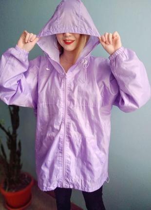 Лиловый стильный дождевик