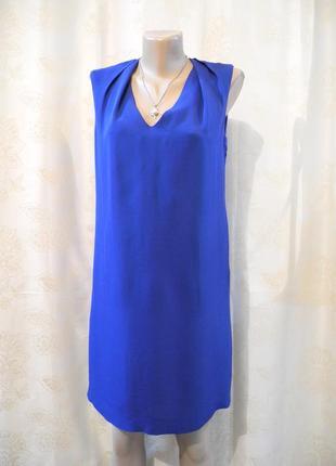 Распродажа платьев!стильное фирменное прямое платье миди massimo dutti, размер s3 фото