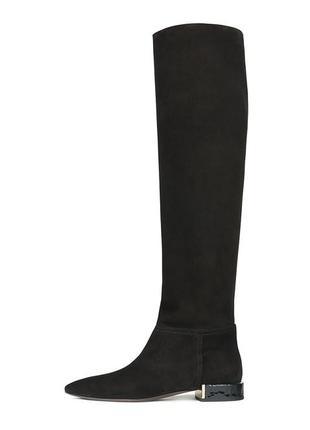 71f9650d40029b Итальянские замшевые /кожаные сапоги, укзкий нос, высокие agl attilio  giusti leombruni