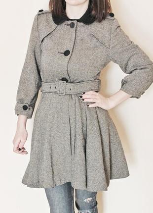 2bd90477423c7 Женское пальто с поясом 2019 - купить недорого вещи в интернет ...