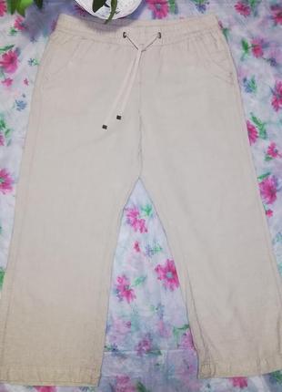 Отличные укороченные брюки, штаны лен/вискоза