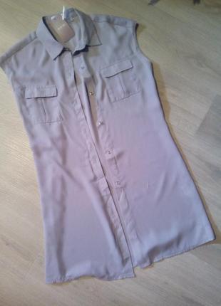 Брендовая удлиненная блузка👚 рубашка туника2 фото