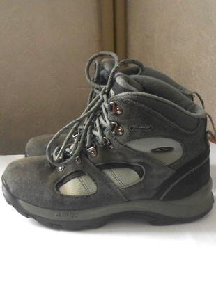Кожаные высокие кроссовки от бренда hi-tec, р.38 код n3832
