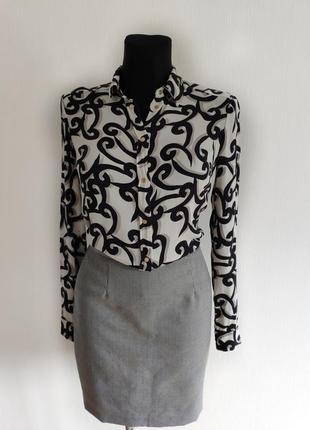Рубашка блуза diane von furstenberg натуральный шелк1 фото
