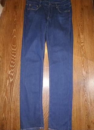 Прямые тёмно-синие джинсы g-star raw