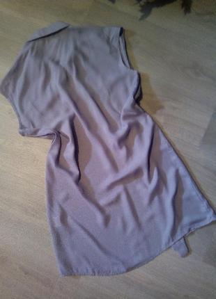 Брендовая удлиненная блузка👚 рубашка туника5 фото