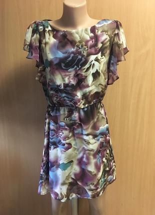 Платье с воланами размер 10