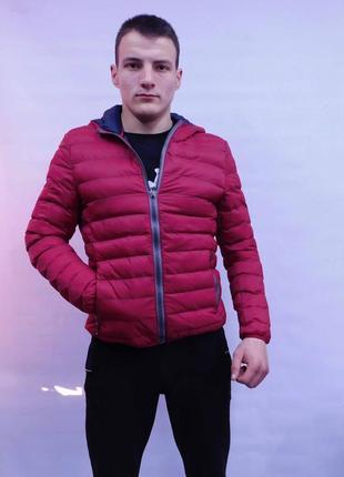 Мужская демисезонная куртка с капюшоном италия
