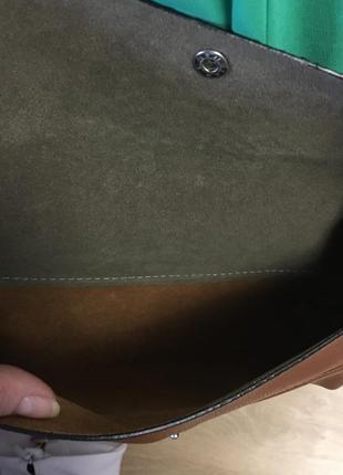 Сумочка наплечная с отделкой под рептилию экокожа4 фото