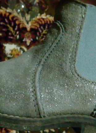 Замшевые ботиночки с напылением.