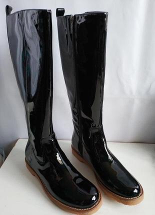 Шикарные кожаные лаковые сапоги flip flop германия европа оригинал