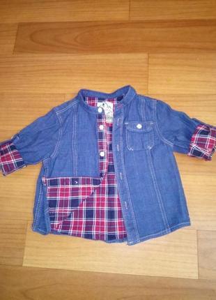 Рубашка 9-18мес