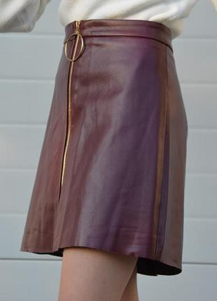 Кожаная юбка формы колокольчика