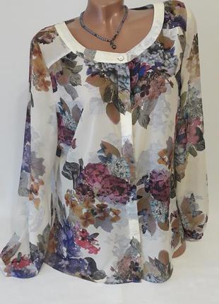 Замечательная блуза в цветочный принт