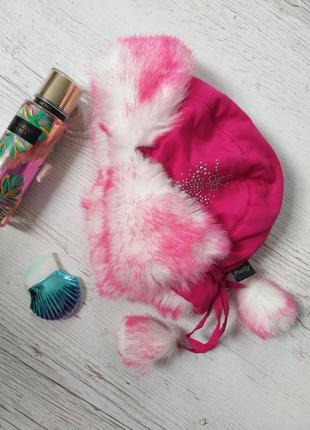 Pretty шапуля рожева з штучним хутром