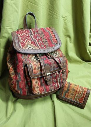 Рюкзак і гаманець parfois в етнічному стилі