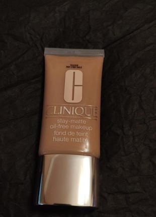 Матирующий тональный крем clinique stay-matte oil-free makeup 14 vanilla (тестер)
