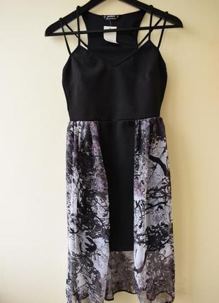 Платье с двойной юбкой от miss selfridge, размер s