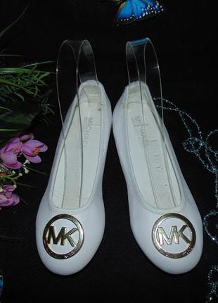 Нарядные балетки michael kors 33.5р,ст 21 см.мега выбор обуви и одежды!