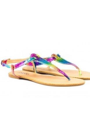 Шикарные цветные босоножки вьетнамки 38 39 40