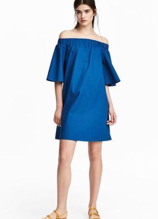 Платье с открытыми плечами h&m